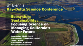 Bay-Delta Science Conference 2010 Flyer